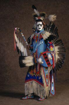 Pow-wow dance regalia Sioux.