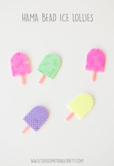 Quick and Easy Hama Bead Designs: Ice Lollies