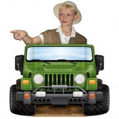 Jungle Safari Jeep Party Photo Prop - Discount Party Supplies