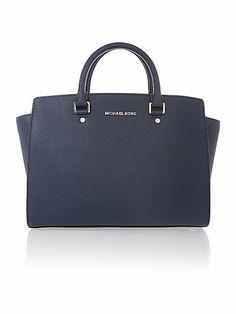 Selma navy tote bag