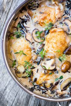 Roast Chicken And Rice, Meals To Make With Chicken, Chicken And Wild Rice, Wild Rice Soup, Creamy Chicken, Roasted Chicken, Chicken Wild Rice Casserole, Best Chicken Thigh Recipe, Chicken Thigh Recipes