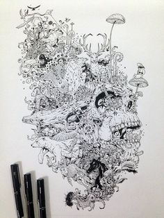 """GROWTH"" ink on 11"" x 16"" inches paper Approx. 15 hours of drawing Here is the video on how it was created: https://www.youtube.com/watch?v=Q2qM3vsA9Ts Bigger image here:..."