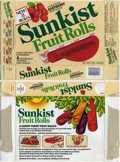 Sunkist Fruit Rolls, had one in my lunch bag everyday for school loved putting it around my finger and licking it 90s Childhood, My Childhood Memories, Best Memories, 80s Food, Barbie Food, Fruit Roll Ups, Vintage Recipes, Vintage Food, Best Fruits