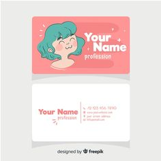 Discover thousands of free-copyright vectors on Freepik Business Card Fonts, Cute Business Cards, Creative Business Cards, Artist Business Cards, Business Card Design Inspiration, Business Design, Corporate Design, Creative Advertising, Advertising Design