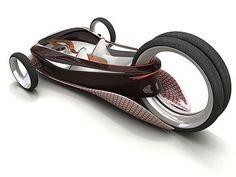 Hubless, single back wheel