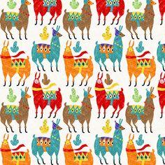 llamas-colors fabric by gaiamarfurt on Spoonflower - custom fabric