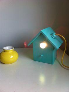 fuglehus lampe, til at stå eller hænge på væggen, diy!