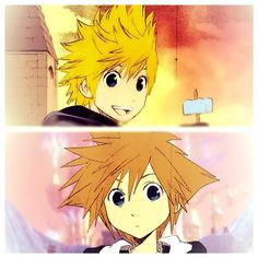 Kingdom Hearts - Roxas and Sora