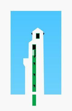 sérigraphie du phare de Ciboure en hommage à l'architecte André Pavlovsky - par le graphiste Thomas Hupt-Marchand. Concours pour gagner une des affiches ici : http://www.la-veilleuse-graphique.fr/2013/05/29/concours-gagnez-une-serigraphie-de-la-serie-hommage-a-andre-pavlovskyde-thomas-huot-marchand-editions-kantia/