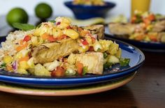 Grilled Tofu with Pineapple Salsa