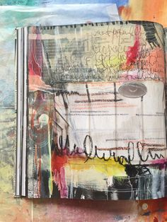 'escape' journal spread - by bun - artist: roxanne coble