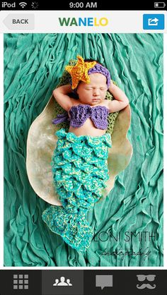 The Little Mermaid baby costume