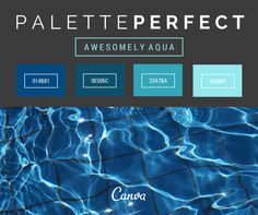Palette perfect! Awesomely aqua #014B81 #0E506C #33A7BA #95E8EF