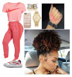 """""""Untitled #316"""" by queen-ayanna on Polyvore featuring NIKE, Casetify and Michael Kors"""