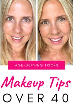 Makeup Tips for Older Women: The Best Foundation Tips - Applying makeup over 40 can be tricky. Here are the makeup tips over 40 that you need for a glowing, smooth, even complexion. tips for over 40 Makeup Tips for Older Women: The Best Foundation Tips Makeup Tips Over 40, Makeup Tips For Older Women, Beauty Tips For Women, Best Makeup Tips, Best Makeup Products, Beauty Products, Older Woman Makeup, Makeup To Look Younger, Makeup Hacks