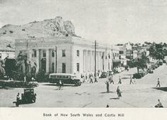 1935 - Bank of NSW and Castle Hill, Townsville Photographs, Castle, Street View, Australia, History, Places, Painting, Historia, Photos