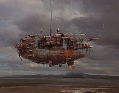 The Last Airborne. Concept art by Ian McQue.