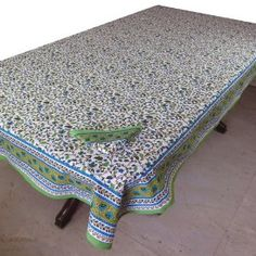 Spring Decor Table Linens Rectangular 152 x 228, Napkins Set of 6, Cotton, Colorful Prints