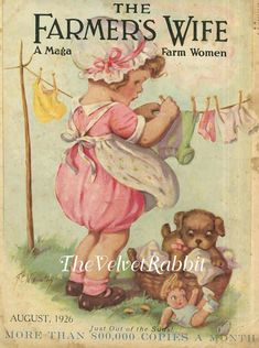 """what a cute magazine cover from 1926 / I like the """"sensibility"""" shown on this board. Like vintage magazine covers as well. Decoupage Vintage, Vintage Ephemera, Vintage Cards, Vintage Postcards, Images Vintage, Vintage Love, Vintage Pictures, Vintage Prints, Old Magazines"""