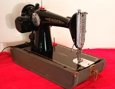 Singer 201 vintage sewing machine, restored by Stagecoach Road Vintage Sewing Mchine.