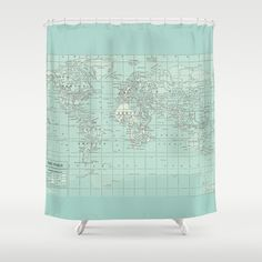 World map shower curtain historical map fabric curtain shower curtain map gumiabroncs Images