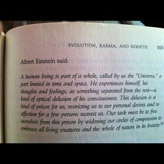 From Albert Einstein, Ideas and Opinions, translated by Sonja Bargmann (New York: Crown Publishers, 1954), quoted in Weber, ed., Dialogues with Scientists and Sages, 203.