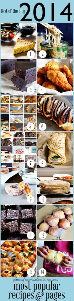 Come see the most popular gluten free recipes of 2014 on Gluten Free on a Shoestring!