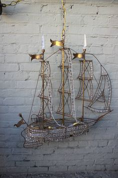 Crystal Beaded Ship Chandelier, circa 1930s image 10