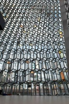 MODERN BUILDINGS: The new concert hall and conference center Harpa in Reykjavík