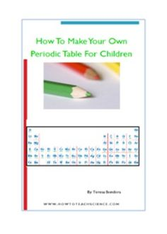 13 best periodic table activities images on pinterest periodic make your own periodic table for children urtaz Images