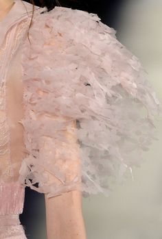 Like a flight of butterflies captured in mist Chanel Haute Couture Fall 2012