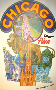 Check it out! Vintage Chicago Poster by TWA