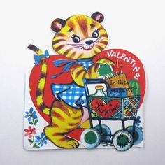 Vintage Unused Children's Novelty Valentine by grandmothersattic
