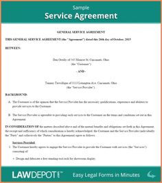 Cleaning Service Agreement Template Janitorial Service