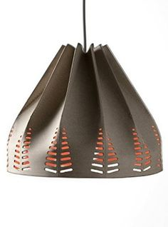 o-Re-gami lampshade, designed by Matali Crasset for Regenesi, made from recycled leather Shabby Chic Lamp Shades, Modern Lamp Shades, Cool Ideas, Origami Lampshade, Lampshade Designs, Cool Lamps, Rustic Lamps, Vintage Design, Lamp Design