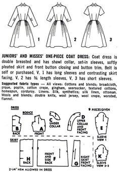 1950s Coat Dress Pattern Simplicity 4591 Misses by paneenjerez