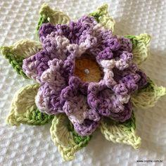 Flor Rosa dos ventos passo a passo - http://www.croche.com.br/flor-rosa-dos-ventos-passo-a-passo/