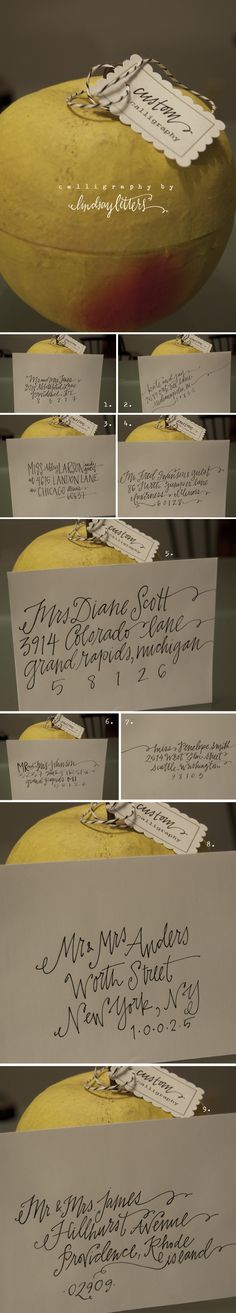Custom calligraphy.  Love this!