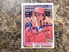 Lary Sorensen 1982 Topps St Louis Cardinals Autographed Card