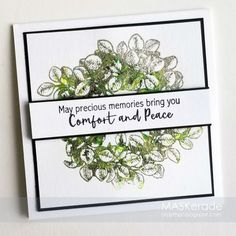 Congratulations to this week's Splitcoaststampers' Featured Stamper, Angelica Turner. I chose this card as my inspiration: I focus. Cricut Cuttlebug, Making Greeting Cards, Sympathy Cards, Homemade Cards, Mini Albums, Card Making, Congratulations, Paper Crafts, Memories