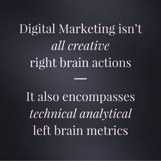 Right Brain, Digital Marketing, Creative