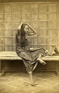 Indonesia Java Jakarta People Study Types Early CDV Photo Woodbury & Page 1860