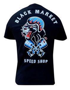 Black Market Art - MENS SPEED SHOP TEE - #infectiousthreads #goth #gothic #horrorpunk #punk #alt #alternative #psychobilly #punkrock #black #fashion #clothes #clothing #darkfashion #streetfashion