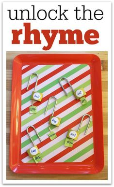 Work on fine motor skills and other concepts with these lock and key activities for kids. Great tray activities for kindergarten and preschool. Rhyming Activities, Preschool Literacy, Early Literacy, Kindergarten Classroom, Literacy Activities, Educational Activities, Activities For Kids, Educational Websites, Literacy Stations