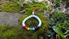 7 Chakra bracelet appropriate both for women and men Feel the comforting properties of the chakra stones while wearing the mala bead bracelets we created. This is healer bracelet with focus on what makes your heart and soul happy! The chakras are the wheels and doors to love, spirituality and healing. Keeping the chakras in balance is the key to physical health, emotional stability and lifelong clarity. CHARACTERISTICS: ********************** ♥ This listing is for one 7 Chakra bracelet ♥…