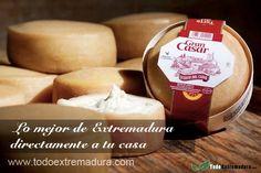 Torta del Casar, reconocida en todo el mundo por su sabor. Te la llevamos directamente a casa. Cómprala en www.todoextremadura.com