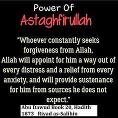 The power of Astaghfirullah. #Islam