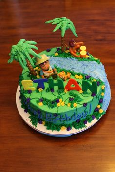Diego Cake From Wilton Pan Liams Birthday Party Pinterest - Go diego go birthday cake
