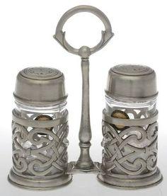 Your Favorite Brands Metal Giftware Salt & Pepper W/Tray Set