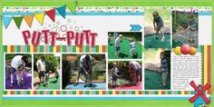 putt putt golf scrapbooking layouts - Bing Images